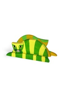 Serwetnik zielono ��ty z kotem U36